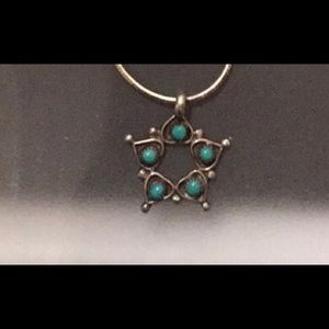 """Jewelry - Sterling Silver & Turquoise 21"""" Necklace"""